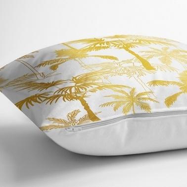 Real Homes Altın Özel Tasarımlı 3'lü Dekoratif Kırlent Kılıfı Seti Renkli